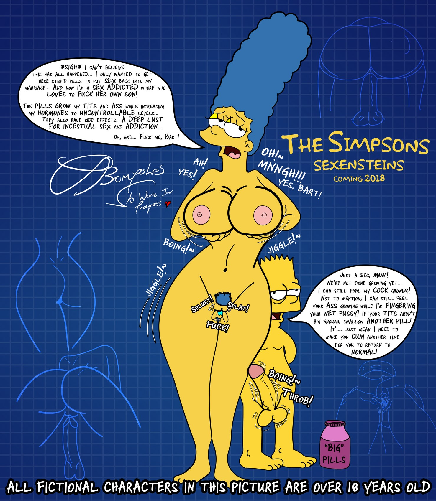 002 - The Simpsons are the sexenteins.