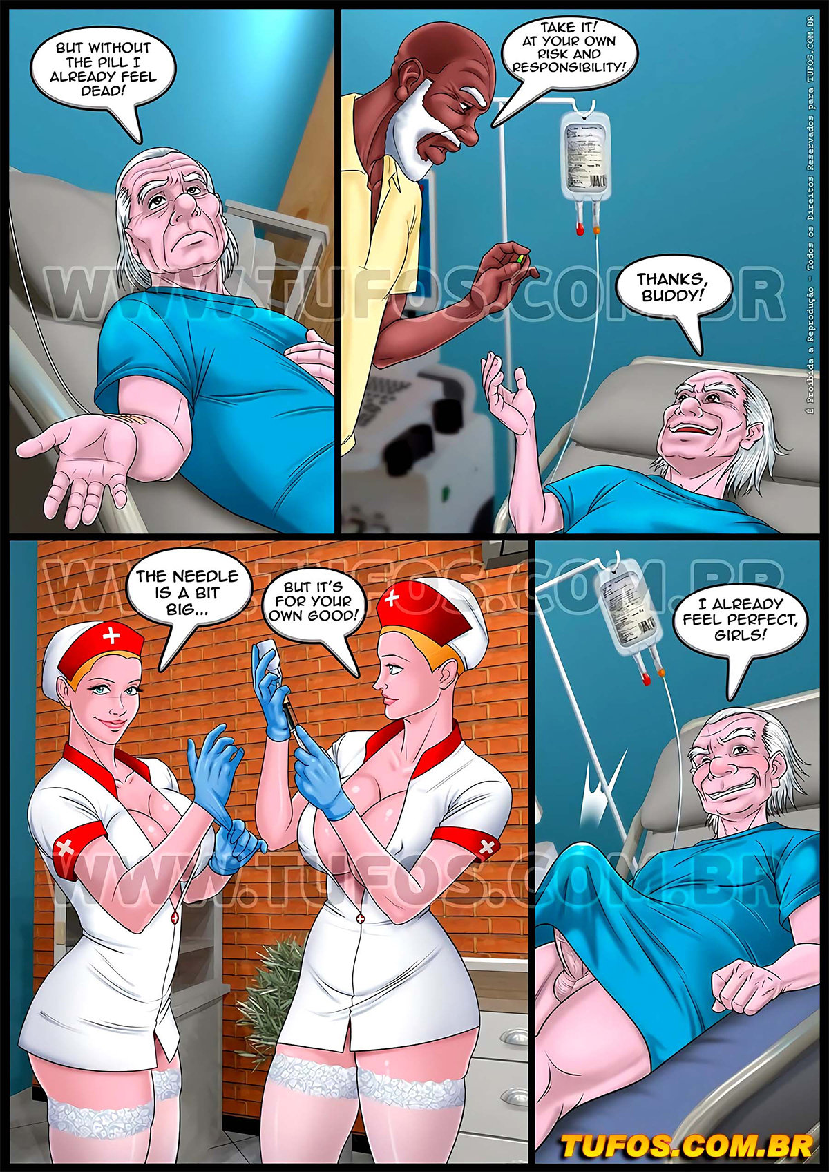 005 23 - The old geezers of the park 11 - Twin Nurses.