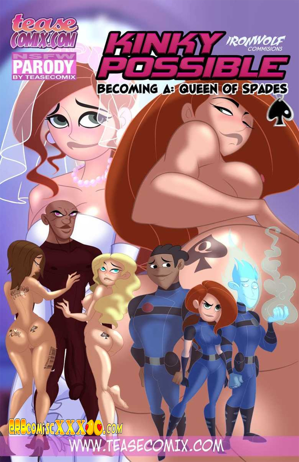 1 15 - Kinky Possible - Becoming A Queen Of Spades (Kim Possible) - Tease Comix.