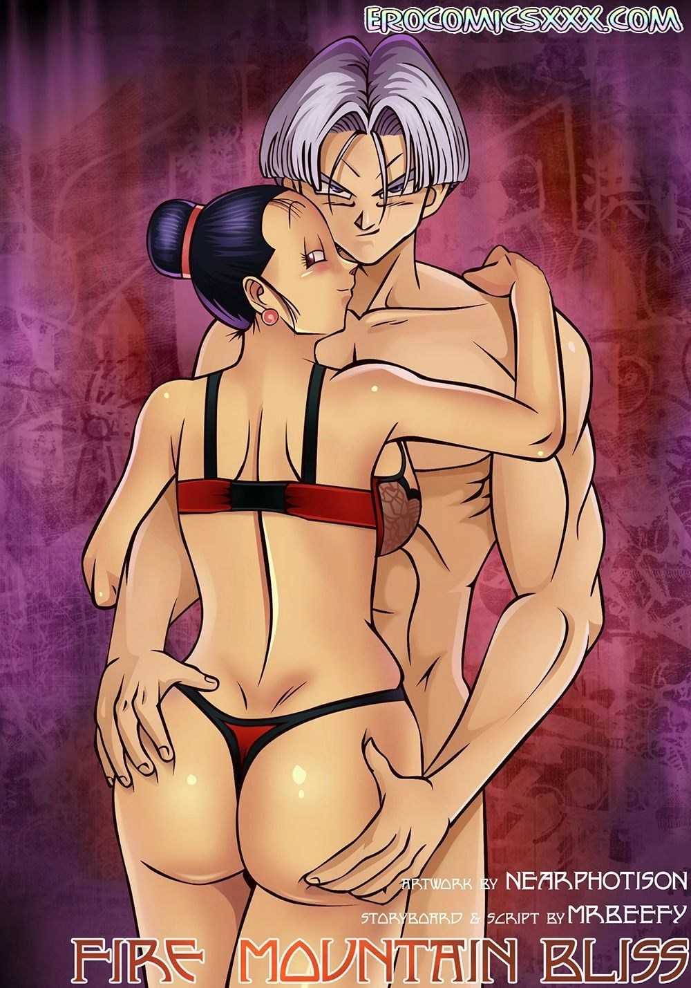 1 38 - Fire Mountain Bliss - Chi-Chi & Trunks. (Dragon ball Z)